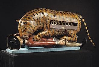 Tipu's Tiger - Tipu's Tiger with the organ keyboard visible