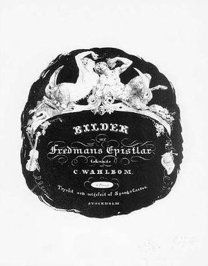 """Glimmande nymf - Vignette on title page of """"Bilder ur Fredmans Epistlar"""" by C. Wahlbom"""