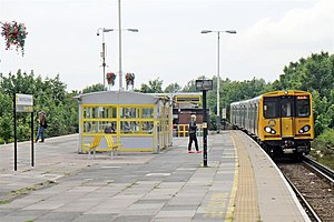 Seaforth & Litherland railway station - Image: To Hunts Cross, Seaforth and Litherland Railway Station (geograph 2994515)