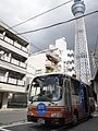 Tobu Bus Central 9778 Skytree Shuttle at Skytree Busstop 2011.jpg