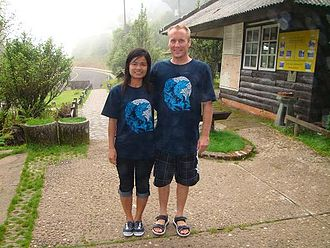 Todd Replogle - Replogle and wife Malisa at Doi Inthanon National Park in Thailand (2008).