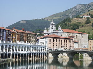 Tolosa, Spain - General view of Tolosa