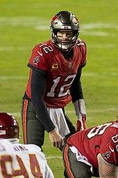Brady against the Washington Football Team in the 2020 playoffs