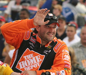 NASCAR driver Tony Stewart in August 2007 at B...