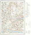 Topographic map of Norway, E30 vest Gjende, 1938.jpg