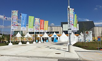Toronto Pan Am Sports Centre - Image: Toronto Pan Am Sports Centre Pan Am Games Entrance