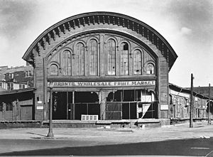 The Esplanade (Toronto) - View of Wholesale Fruit Market, former GWR rail station