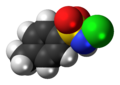 Tosylchloramide molecule spacefill.png