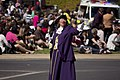 Town Crier, Judy Campbell, leading the SunRice Festival parade in Pine Ave (2).jpg