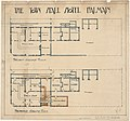 Town Hall Hotel, Balmain, Proposed and present ground floor plans, Architect Barton written on back of plan (27677573005).jpg