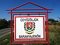 Town sign of Baranyajenő.jpg