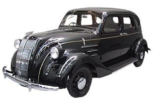 Chrysler Airflow - Toyota AA, 1936. Influenced by the Chrysler Airflow via DeSoto Airflow.