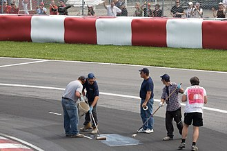 2008 Canadian Grand Prix - Resurfaced sections of the track began to break up in practice and qualifying and had to be repaired on numerous occasions.