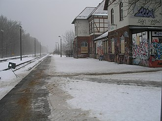Jüterbog–Nauen railway - Beelitz Stadt station