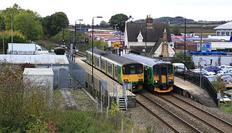 Ridgmont railway station - View of Ridgmont Railway Station from the A507 bypass
