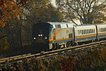 Trainspotting VIA -66 to Montreal headed by GE P42DC -903 and banked by EMD F40PH-2 -6437 (8123593260).jpg