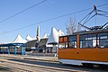 Tram in Sofia in front of Central Railway Station 2012 PD 053.jpg