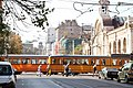 Trams in Sofia in front of Central Market Hall 2012 PD 21.JPG
