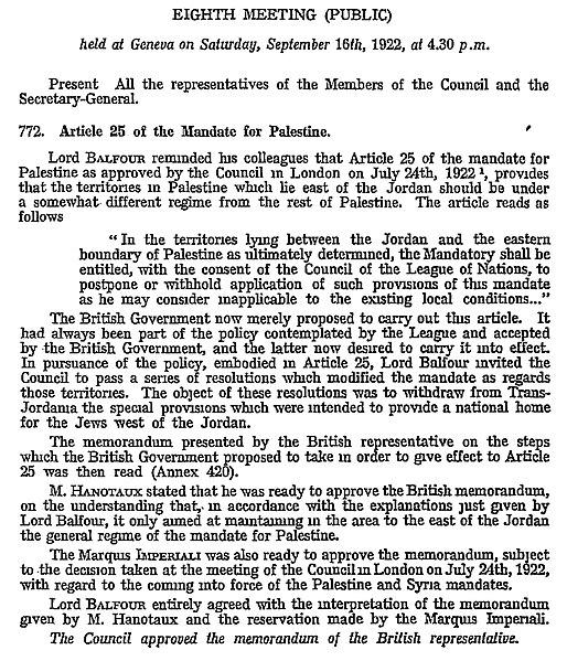 File:Transjordan memorandum approval at the Council of the League of Nations, 16 September 1922.jpg