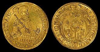 Michael I Apafi - Image: Transylvania 1681 25 Ducat gold coin