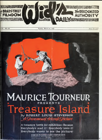 Treasure Island (1920 film) - period advertisement