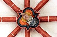 Treis, ehem. Pfarrkirche - Schlussstein Hand Gottes (2020-09-20 Sp).jpg