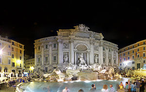 Trevi Fountain - Trevi Fountain at night