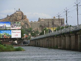 Tiruchirappalli district - Kaveri river and Rockfort at Tiruchirapalli
