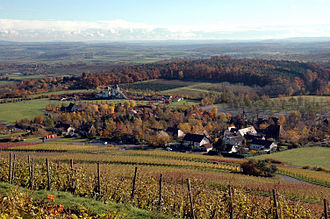 Cleebronn - View from the Michaelsberg to Treffentrill and Tripsdrill