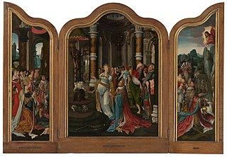Triptych with the Life Story of Solomon