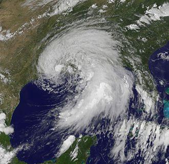 Tropical Storm Lee (2011) - Subtropical Storm Lee prior to making landfall on September 3