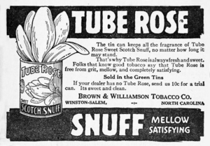 Brown & Williamson - Image: Tube Rose Snuff, Brown & Williamson Tobacco Company, Winston Salem, North Carolina
