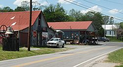 Shops along State Route 141 in Tuckers Crossroads.