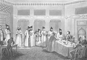 Treaty of Turkmenchay - Signing ceremony
