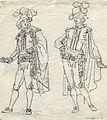 Två herrar i svenska dräkten. Odaterad teckning av Pehr Nordqvist (1770-1805) - Nordiska Museet - NMA.0054241.jpg