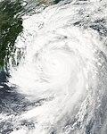 Typhoon Jangmi on September 28, 2008 near landfall in Taiwan.jpg