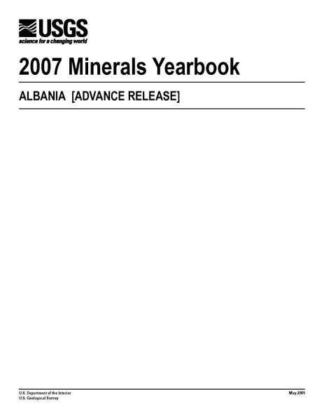 File:U.S. GEOLOGICAL SURVEY 2007 Minerals Yearbook ALBANIA Myb3-2007-al.pdf