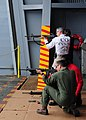 U.S. Navy Capt. Tom Burke,top, the commanding officer of the aircraft carrier USS Ronald Reagan (CVN 76), and Capt. Michael McKenna, the ship's executive officer, fire M16A3 service rifles during a qualification 130506-N-PZ223-326.jpg