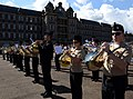 U.S. Navy musicians with the U.S. Naval Forces Europe Band rehearse a song from the mass military band ensemble for the Royal Edinburgh Military Tattoo in Edinburgh, Scotland, July 31, 2012 120731-N-VT117-982.jpg