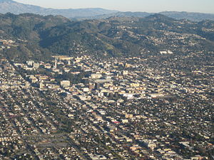 Aerial shot of Berkeley
