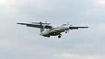 UNI Air ATR 72-600 B-17001 on Final Approach at Taipei Songshan Airport 20150101.jpg