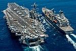 USS Carl Vinson (CVN 70) conducts a replenishment-at-sea with USNS Yukon. (27967789254).jpg