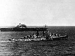 USS Hornet (CV-8) and USS Atlanta (CL-51) at sea on 6 June 1942 (80-G-88908).jpg