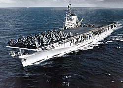 USS Midway (CVB-41) steaming off the Firth of Clyde in September 1952.jpg