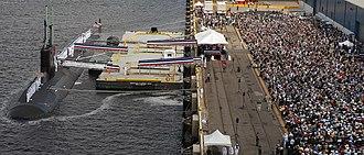 USS North Carolina (SSN-777) - Image: USS North Carolina (SSN 777) commissioning