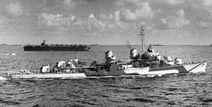 USS Stembel (DD-644) - USS Stembel (DD-644) during World War II.