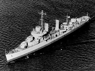 USS Stevenson (DD-645) - Image: USS Stevenson (DD 645) underway in December 1942