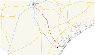 U.S. Route 181 - Image: US 181 map