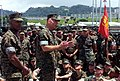 US Navy 030417-M-9902V-073 Gen. Michael W. Hagee, Commandant of the Marine Corps (CMC), visits Marine Wing Support Squadron One Seventy Two (MWSS-172) to boost the moral of the Marines.jpg