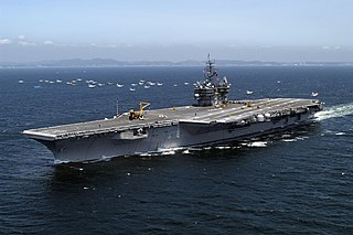 USS <i>Kitty Hawk</i> (CV-63) Aircraft carrier of the US Navy